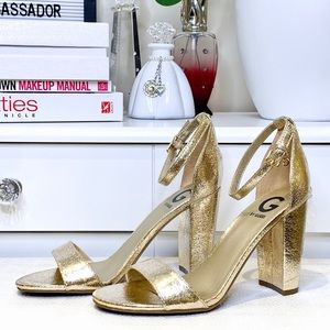G by Guess Gold Tone Sandal Size 8